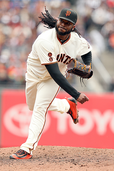 © DANIEL GLUSKOTER Johnny Cueto was a stellar 18-5 while starting the All-Star Game for the National League in his first season in San Francisco.