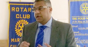 Martinez Police Chief Manjit Sappal at a recent meeting of the Martinez Rotary. (PAUL CRAIG / Courtesy)