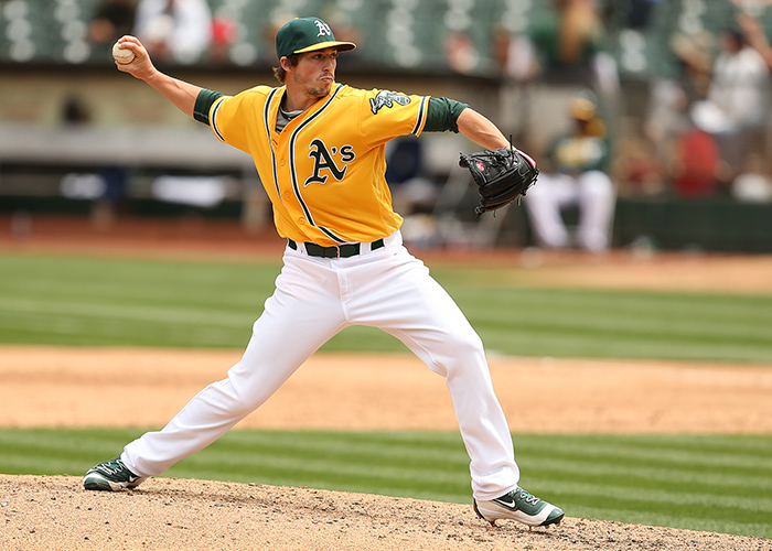 ©DANIEL GLUSKOTER The A's hope Ryan Dull continues to be a lock-down middle relief pitcher bridging the gap between the starting rotation and the bullpen.