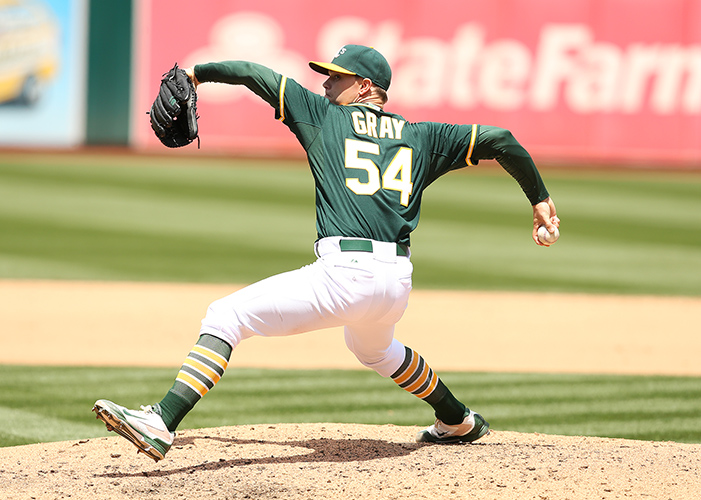 ©DANIEL GLUSKOTER Sonny Gray hopes to bounce back from an injury plagued 5-11 season with a 5.69 ERA, nearly three runs over his previous career high.