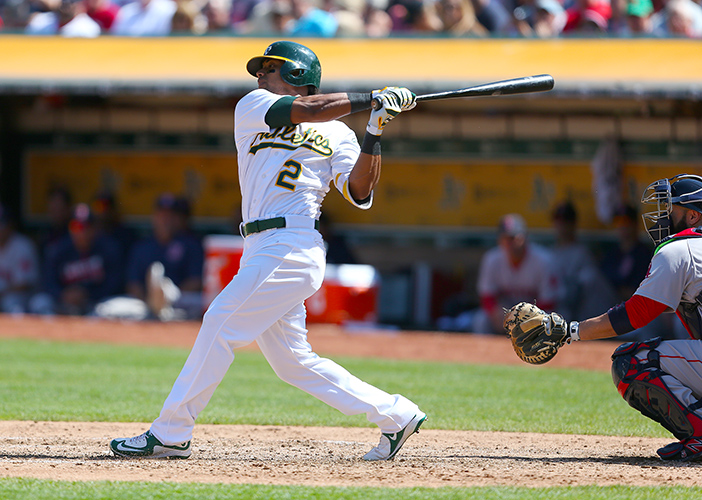 ©DANIEL GLUSKOTER The A's are hoping Khris Davis can repeat his 2016 performance when he blasted 42 home runs to go along with 102 RBI's in 150 games.