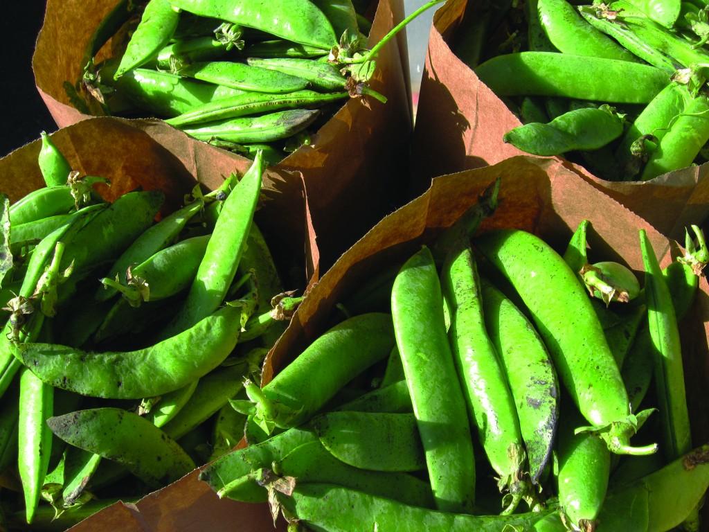 Fresh peas from the farmers market. (PACIFIC COAST FARMERS MARKET / Courtesy)