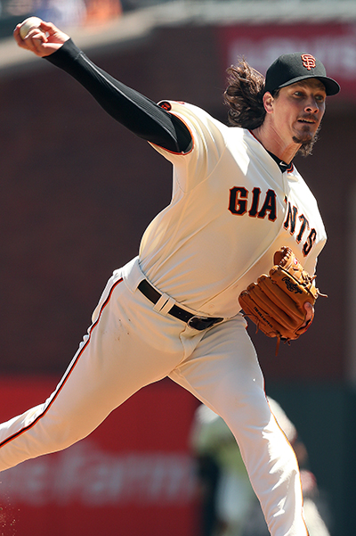 © DANIEL GLUSKOTER Jeff Samardzija hasn't missed a start since the 2012 season and has averaged over six innings pitched per appearance in that stretch.