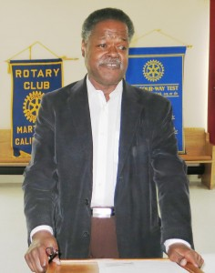 Contra Costa County Supervisor Federal Glover, during a recent visit to Martinez Rotary. (PAUL CRAIG / Courtesy)