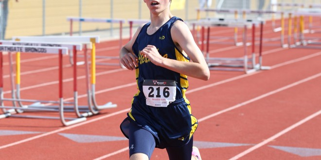Alhambra freshman Carson Edwards took fourth place overall in the 1600-meter race against setting a new personal record in the process at Northgate on April 26, 2017. (MARK FIERNER / Martinez Tribune)