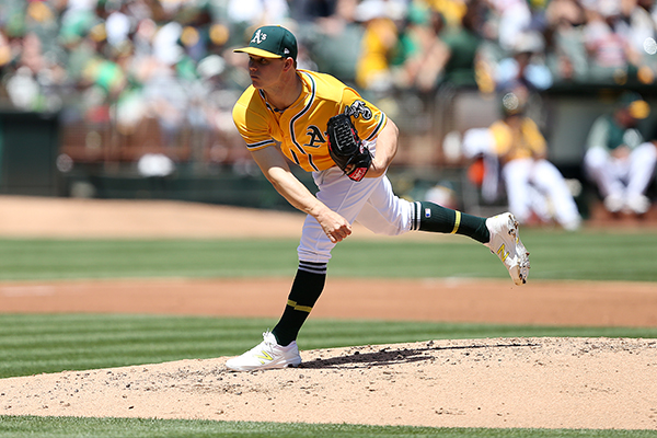 ©DANIEL GLUSKOTER Sonny Gray was shaky in his latest start on Sunday against Detroit, unable to make it out of the fifth inning, but the A's bats helped secure an 8-6 walk-off victory over the Tigers.