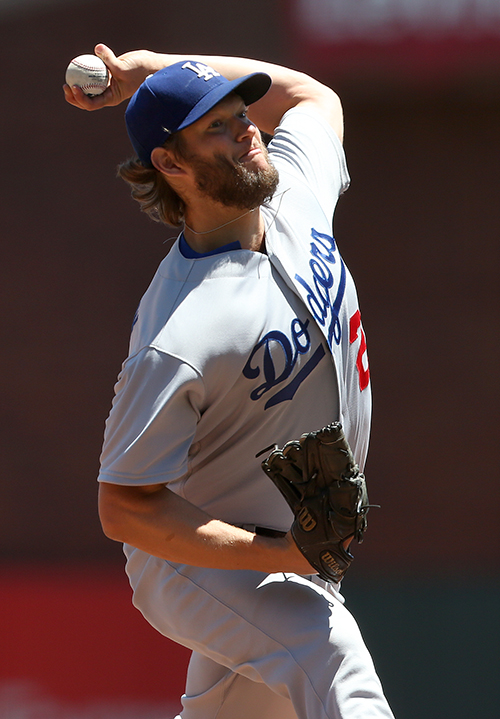 ©DANIEL GLUSKOTER Clayton Kershaw was his usual dominating self on Wednesday, throwing seven scoreless innings as the Dodgers shut down the Giants 6-1.