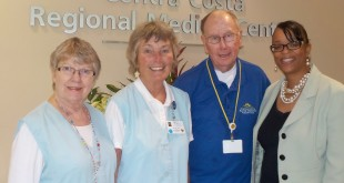 "Rhonda Smith, Volunteer Program Coordinator (far right), introduced the ""High Achievers"" of Volunteer service hours for 2016 at the 49th Annual Volunteer Luncheon held at Contra Costa Regional Medical Center last week. They are Jo-Ann Lee (735 hours), Linda Waxman (1,133 hours), Bill Cunningham (586 hours).  Not shown is Richard Firth (1,110).  For the year, 314 volunteers totaled up 31,145 service hours. (COURTESY / On File)"