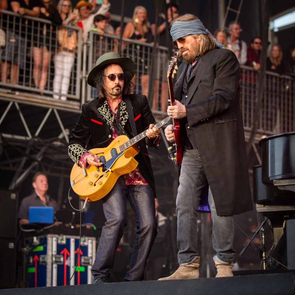 Tom Petty and Mike Campbell perform at BottleRock in Napa on Saturday night.