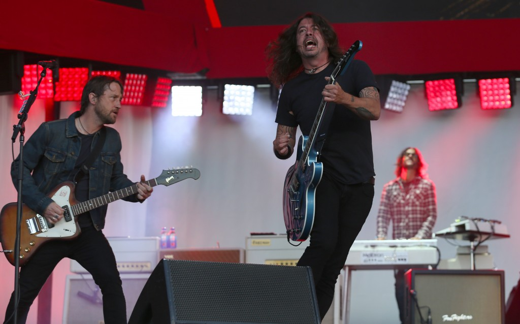 ©DANIEL GLUSKOTER  Dave Grohl and the Foo Fighters perform while heading BottleRock in Napa on Sunday night, their first US Festival appearance in close to two years.
