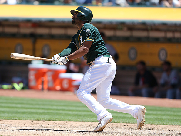 ©DANIEL GLUSKOTER Marcus Semien has helped solidify the A's infield since his return from the disabled list.