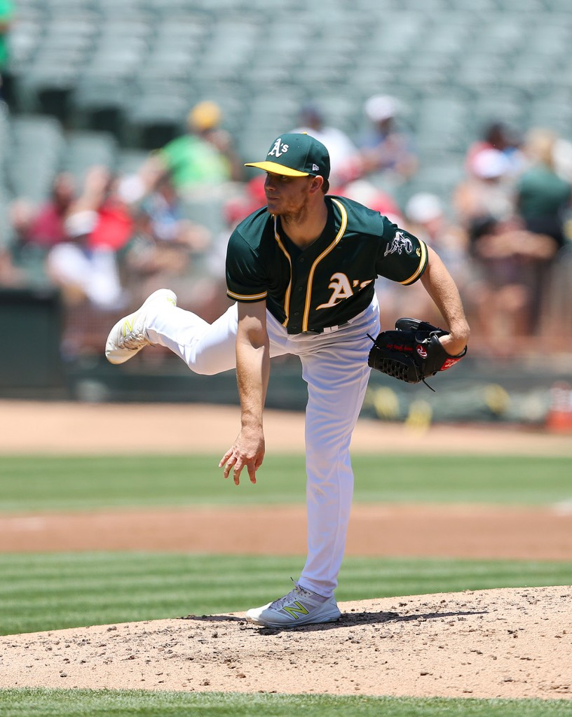 ©DANIEL GLUSKOTER Rumored to be on the trading block, Sonny Gray pitched 6 1/3 strong innings against Tampa on Wednesday as the A's closed a strong home stand with a 7-2 victory over the Rays.