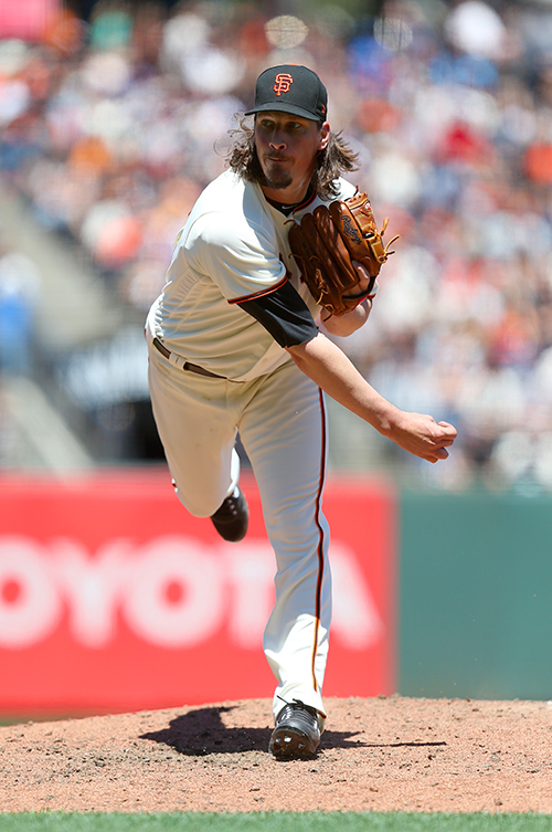 ©DANIEL GLUSKOTER In what could be his final start in a San Francisco uniform, Jeff Samardzija pitched one of his best games of the season on Wednesday, helping to lead  the Giants to a 2-1 victory over the Pirates at AT&T Park.