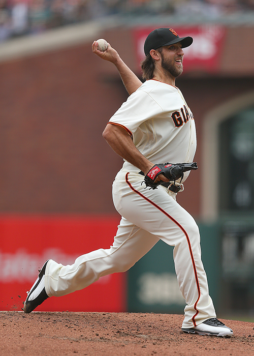©DANIEL GLUSKOTER Madison Bumgarner's resumed his strong comeback from injury on Wednesday, throwing seven strong innings against the Cubs at AT&T Park to lower his ERA to 2.71 as the Giants wrapped up a successful homestand with a 3-1 win over the Cubs.