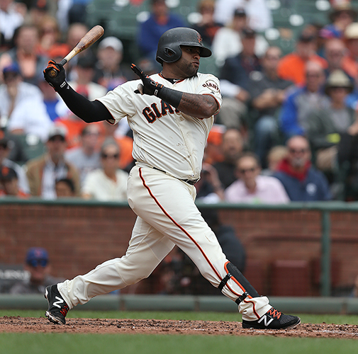 ©DANIEL GLUSKOTER Pablo Sandoval's return to San Francisco has coincided with some of the best baseball the last place Giants have played all season.