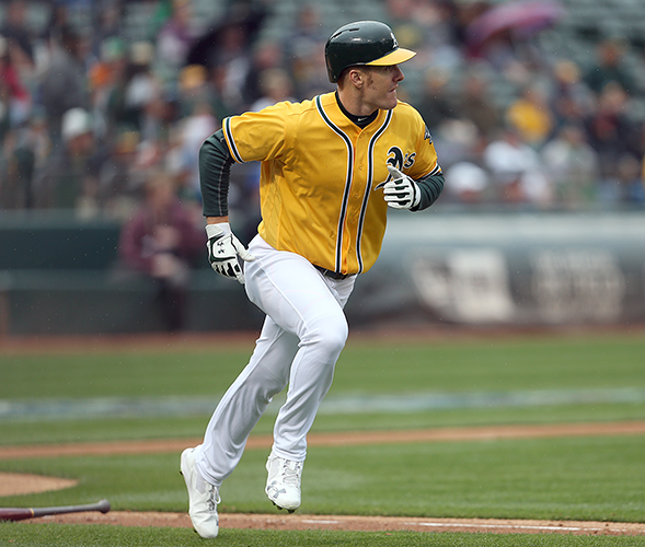 ©DANIEL GLUSKOTER Mark Canha's walk-off home run in the bottom of the ninth helped the A's end their home schedule on a high note, beating the Mariners 6-5.