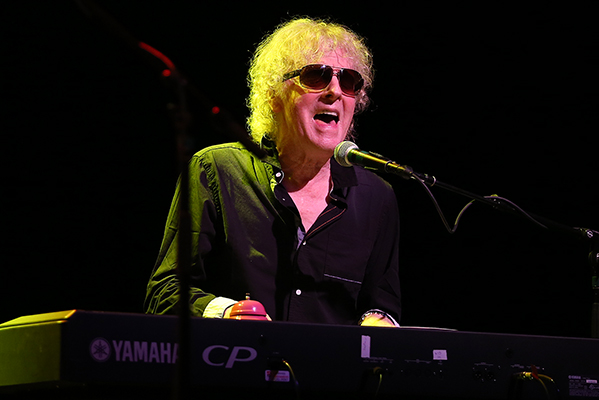 "©DANIEL GLUSKOTER Ian Hunter rocks The Fillmore crowd with a rollicking version of ""All The Way From Memphis"" last night in San Francisco."