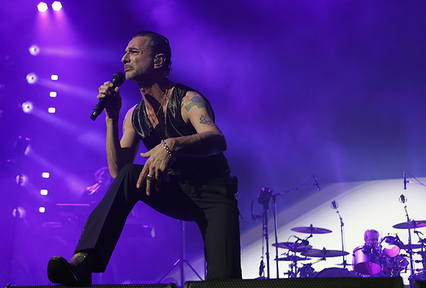 "©DANIEL GLUSKOTER Dave Gahan of Depche Mode performs during the ""Global Spirit Tour"" in San Jose Sunday night."