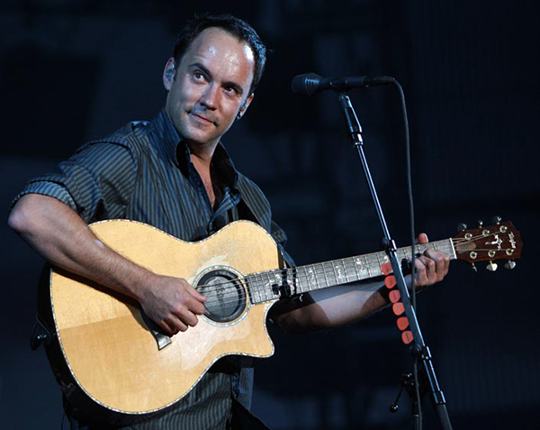 ©DANIEL GLUSKOTER Dave Matthews will be among the All-Star cast of musicians performing at the Band Together Bay Area concert to benefit victims of the recent fires on November 9th at AT&T Park.