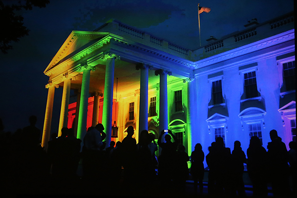 ©PETE SOUZA A late night 2015 image of the White House illuminated in the colors of the rainbow after the Supreme Court decision affirming the right to same sex marriage.