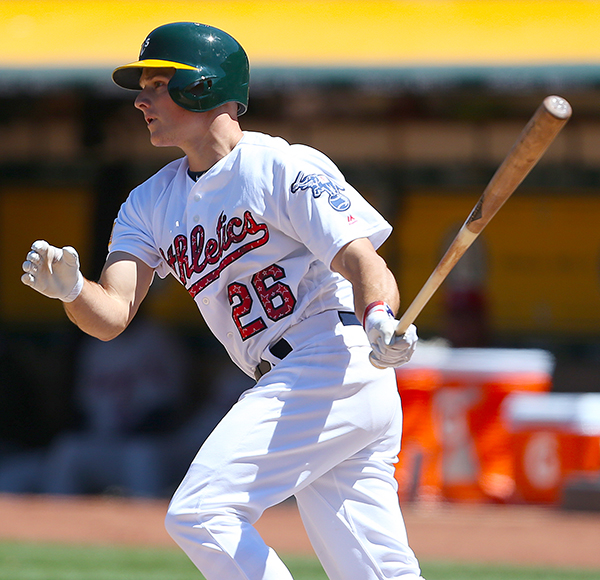 ©DANIEL GLUSKOTER Matt Chapman looks to be a fixture at third base for the A's for many years to come. In just over half a season in 2017, the rookie had 23 doubles to go along with 14 home runs and 40 RBI's.