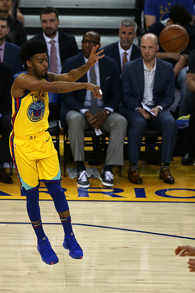 ©DANIEL GLUSKOTER Quinn Cook led the Warriors with a career-high 30 points but it wasn't nearly enough to help as the Bucks pulled away for a easy win in the second half.