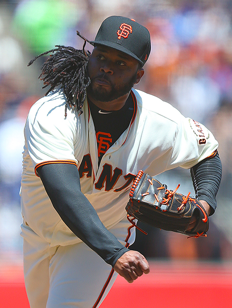 ©DANIEL GLUSKOTER Johnny Cueto was a solid second starter going 18-5 with a 2.79 ERA during his first season with the Giants in 2016. He'll need to bounce back after a subpar performance last year for the Giants to have a realistic shot shot at making it to the post season.