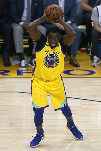 ©DANIEL GLUSKOTER Draymond Green returned to the line-up with 11 points, five rebounds, and six assists but it wasn't nearly enough as the Warriors lost to Milwaukee 116-107 at Oracle Thursday night.
