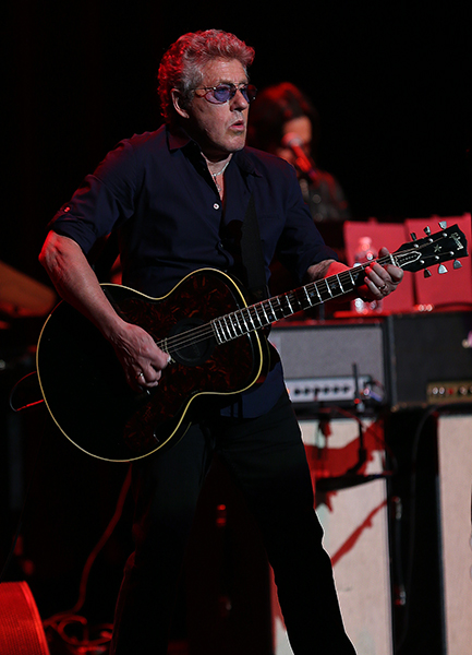 ©DANIEL GLUSKOTER Roger Daltrey performs live at The Fox Theater in Oakland Thursday night. The 74 year old lead singer of The Who is touring in advance of the June release of his first solo album since 1992.