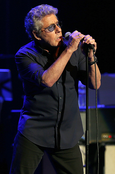 ©DANIEL GLUSKOTER Roger Daltrey performs at the Fox Theater in Oakland Thursday night.