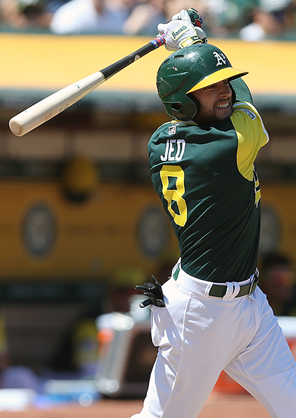 ©DANIEL GLUSKOTER Strongly rumored to be on the block at the trade deadline, the A's held onto Jed Lowrie and he rewarded them with a career high 49 doubles, the second most in the Majors.