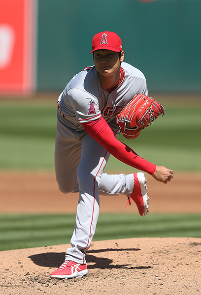 ©DANIEL GLUSKOTER Shohei Ohtani impressed in his Major League debut Sunday in Oakland. The Japanese phenom earned the win going six strong innings while striking out six in the Angels 7-4 win over the A's.