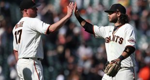 Crawford's three-run blast propels Giants past Rockies 4-3