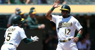 Ball falls the right way for A's and Manaea in win over DBacks