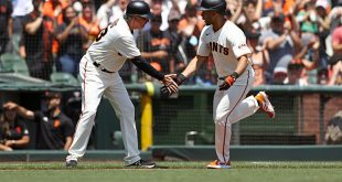 Wade's power show, Wood's arm lift Giants past Pirates 6-1